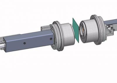 Inline measurement head for R and T with flanges